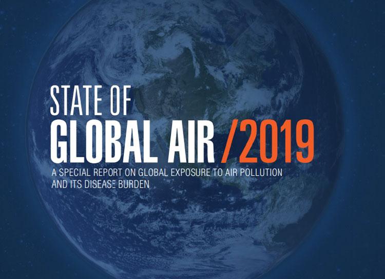 Báo cáo chất lượng không khí toàn cầu 2019. Ảnh chụp màn hình.