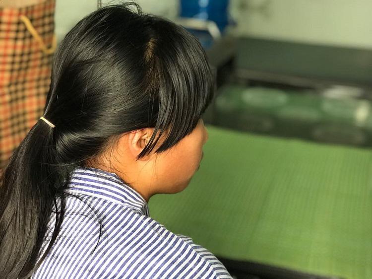 Nữ sinh lớp chín Hưng yên nhiều lần bị bạn đánh phải điều trị trong bệnh viện. Ảnh: Dương Tâm