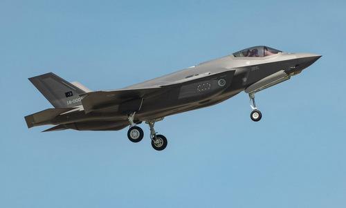Tiêm kích F-35A Thổ Nhĩ Kỳ bay thử tại Mỹ năm 2018. Ảnh: Lockheed Martin.