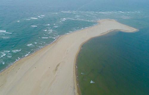 Một góc cồn cát nhìn từ trên cao. Ảnh: Minh Hải.