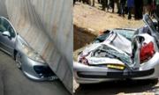 Nữ tài xế và con nhỏ thoát chết khi xe container đè bẹp ôtô