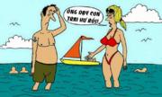 Vợ nổi điên khi chồng hành động giống con trai