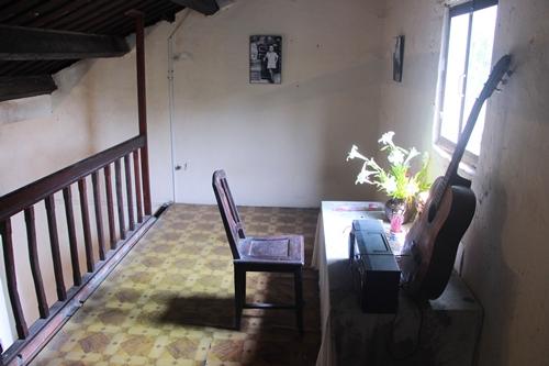Căn gác nơi cố nhạc sĩ Trịnh Công Sơn từng sinh sống khi ở Huế. Ảnh: Võ Thạnh