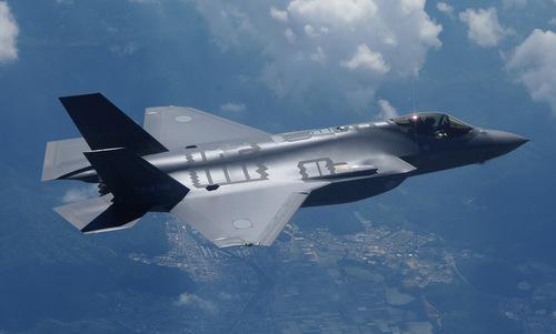 Chiếc F-35A số đuôi 79-8705 trong chuyến bay thử nghiệm năm 2017. Ảnh: JASDF.