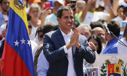 Thủ lĩnh đối lập Venezuela Juan Guaido. Ảnh: Reuters.