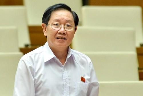 Bộ trưởng Nội vụ Lê Vĩnh Tân. Ảnh: Trung tâm báo chí QH