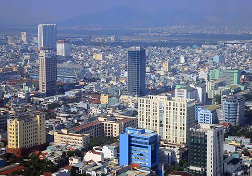Một góc đô thị Đà Nẵng từ trên cao. Ảnh: Nguyễn Đông.