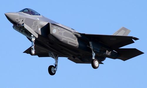 Chiếc F-35A số đuôi 79-8705 bay huấn luyện cuối năm 2017. Ảnh: JASDF.