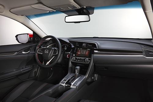 Khoang lái trên bản Civic RS 2019.