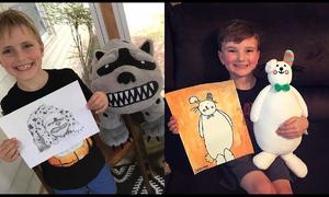 'Biến' tranh vẽ của trẻ thành thú nhồi bông