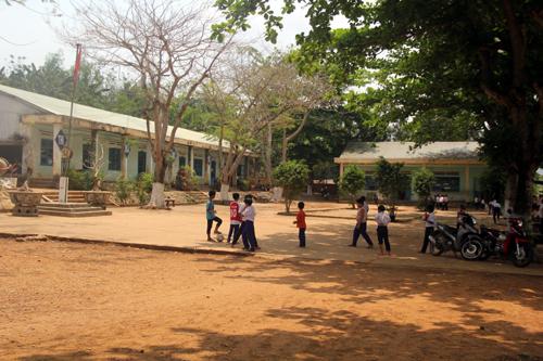 Ngôi trường nơi ông Chung trước đây công tác. Ảnh: Đắc Thành.