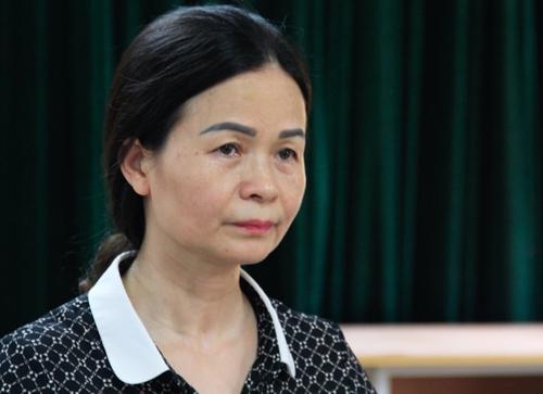 Bà Ngô Thị Thu Anh, Hiệu trưởng trường THCS Trần Phú. Ảnh: Dương Tâm
