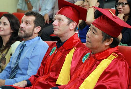Các giáo sư Đại học Nông Lâm TP HCM trong một lễ tốt nghiệp. Ảnh: Mạnh Tùng.