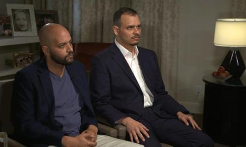 Salah (phải) và Abdullah Khashoggi, hai con trai của nhà báo Jamal Khashoggi. Ảnh: CNN.