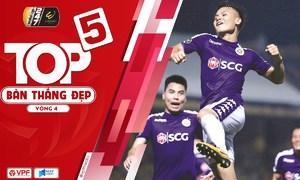 Quang Hải dẫn đầu Top 5 bàn thắng vòng 4 V-League