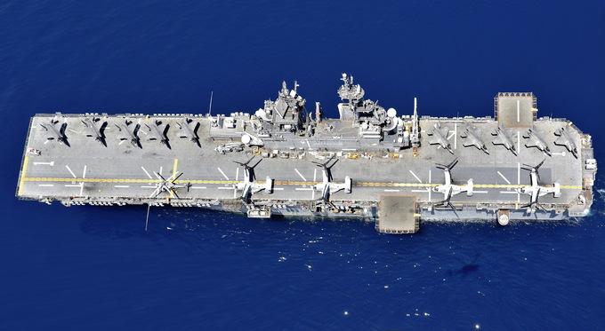 Cuộc diễn tập của chiến hạm Mỹ mang tiêm kích F-35B trên Biển Đông