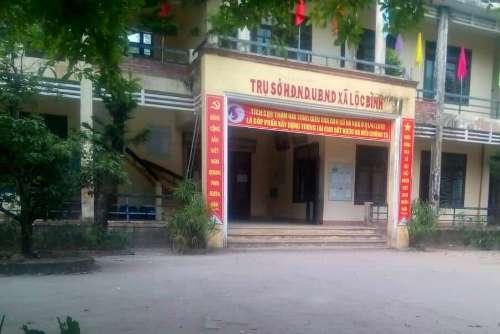 Trụ sở UBND xã Lộc Bình. Ảnh: N.L