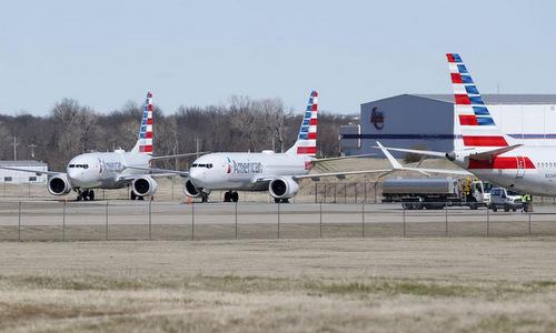 Máy bay 737 MAX của American Airlines tại khu lưu trữ hồi đầu tháng 4. Ảnh: AFP.