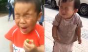Biểu cảm hài hước của các em bé thử ăn chanh