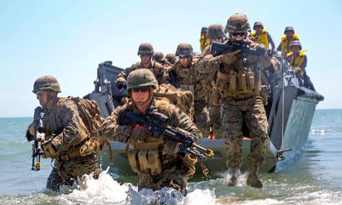 Thủy quân lục chiến Mỹ trong một cuộc diễn tập đổ bộ năm 2017. Ảnh: US Marine Corps.