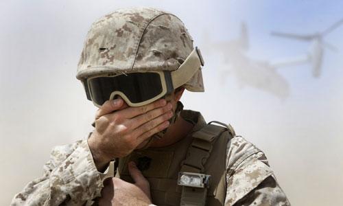Một lính Mỹ tham gia diễn tập quân sự trên đảo Okinawa, Nhật Bản. Ảnh: Stripes.