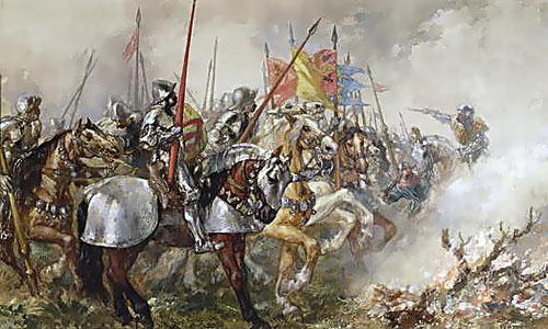 Tranh minh họa trận Agincourt. Ảnh: WarHistoryOnline.