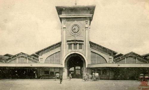 Chợ Bến Thành đầu thế kỷ 20. Ảnh: Wikipedia.