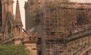 Nhà thờ Đức Bà Paris sau khi lửa được dập tắt