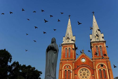 Nhà thờ Đức Bà Sài Gòn hiện nay. Ảnh: Hữu Khoa.