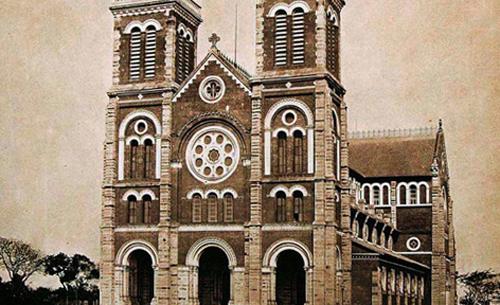 Nhà thờĐức Bà vốn là một điểm cao của Sài Gòn xưa. Ảnh tư liệu.