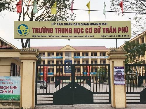Trường THCS Trần Phú, quận Hoàng Mai, Hà Nội. Ảnh: Dương Tâm.