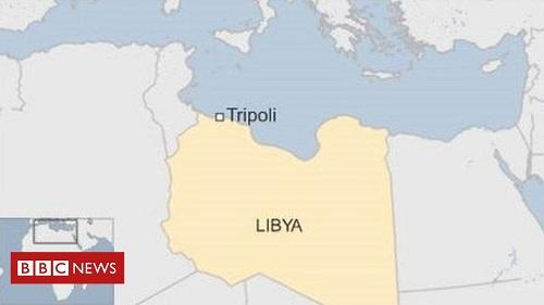 Vị trí Tripoli. Đồ họa: BBC.