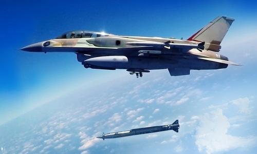 Tiêm kích Israel phóng thử tên lửa Rampage hồi năm 2018. Ảnh: IAI.
