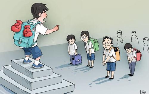Để ngăn chặn bạo lực, các trường học cần xây dựng văn hóa nhà trường. Ảnh: LAP
