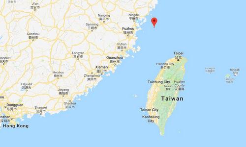 Vị trí đảo Đông Dẫn. Đồ họa: Google Maps.