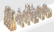 Kiến trúc đồ sộ của Nhà thờ Đức Bà Paris