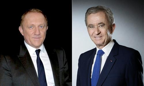 Francois-Henri Pinault (trái) và Bernard Arnault. Ảnh: AFP.