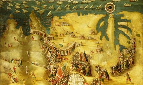 Quân lính của Don Garcia truy kích quân Ottoman. Ảnh: War History.
