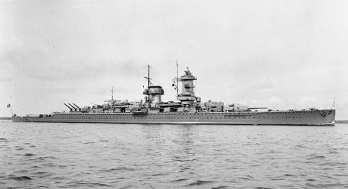 Tuần dương hạm Đô đốc Graf Spee hồi năm 1936. Ảnh: Wikipedia.