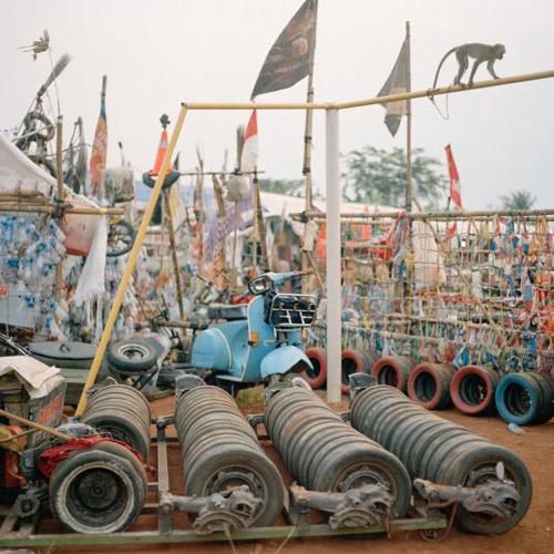 Chiếc Vespa tại sự kiện Java Rosok Extreme, sự kiện hàng năm ở Bekasi, Tây Java.