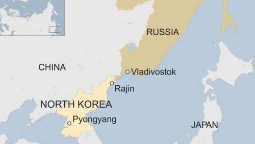 Vị trí thành phố Vladivostok của Nga. Đồ họa: BBC.