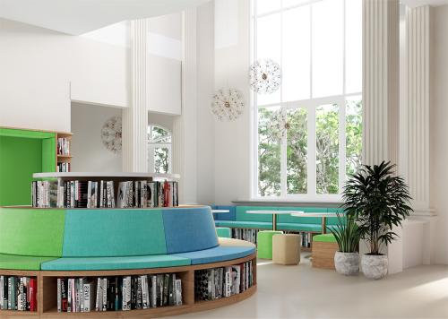 Mô hình thư viện sách và thư viện điện tử hiện đại theo hướng Learning Commons giúp học sinh tự tra cứu, học, đọc tài liệu, nghiên cứu, thảo luận về các vấn đề quan tâm, hoặc nghỉ ngơi, thư giãn sau giờ học.