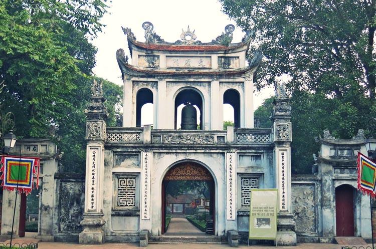 Cổng Văn Miếu - Quốc Tử Giám.