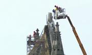 Pháp gia cố phần bị tàn phá trong vụ cháy Nhà thờ Đức Bà Paris