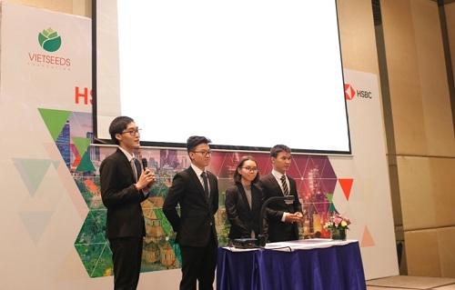 Các sinh viên tham gia cuộc thi phải giải quyết tình huống thực tế trong doanh nghiệp.