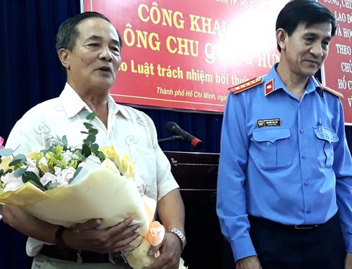 Ông Hưng không chấp nhận lời xin lỗi của VKS. Ảnh: Hải Duyên.