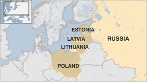 Vị trí Estonia. Đồ họa: BBC.