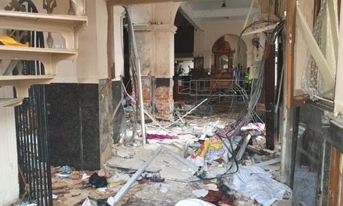 Hiện trường vụ nổ một loạt nhà thờ và khách sạn Sri Lanka