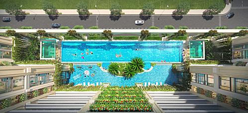 Mảng xanh len lỏi vào từng không gian trong dự án.