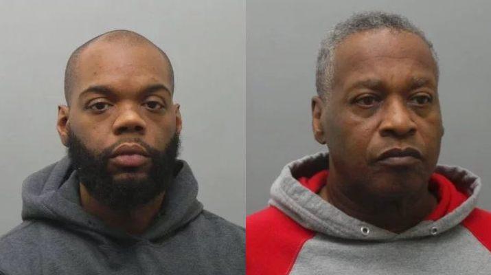 Deonte Taylor (trái) và bạn trai Michael Johnson.